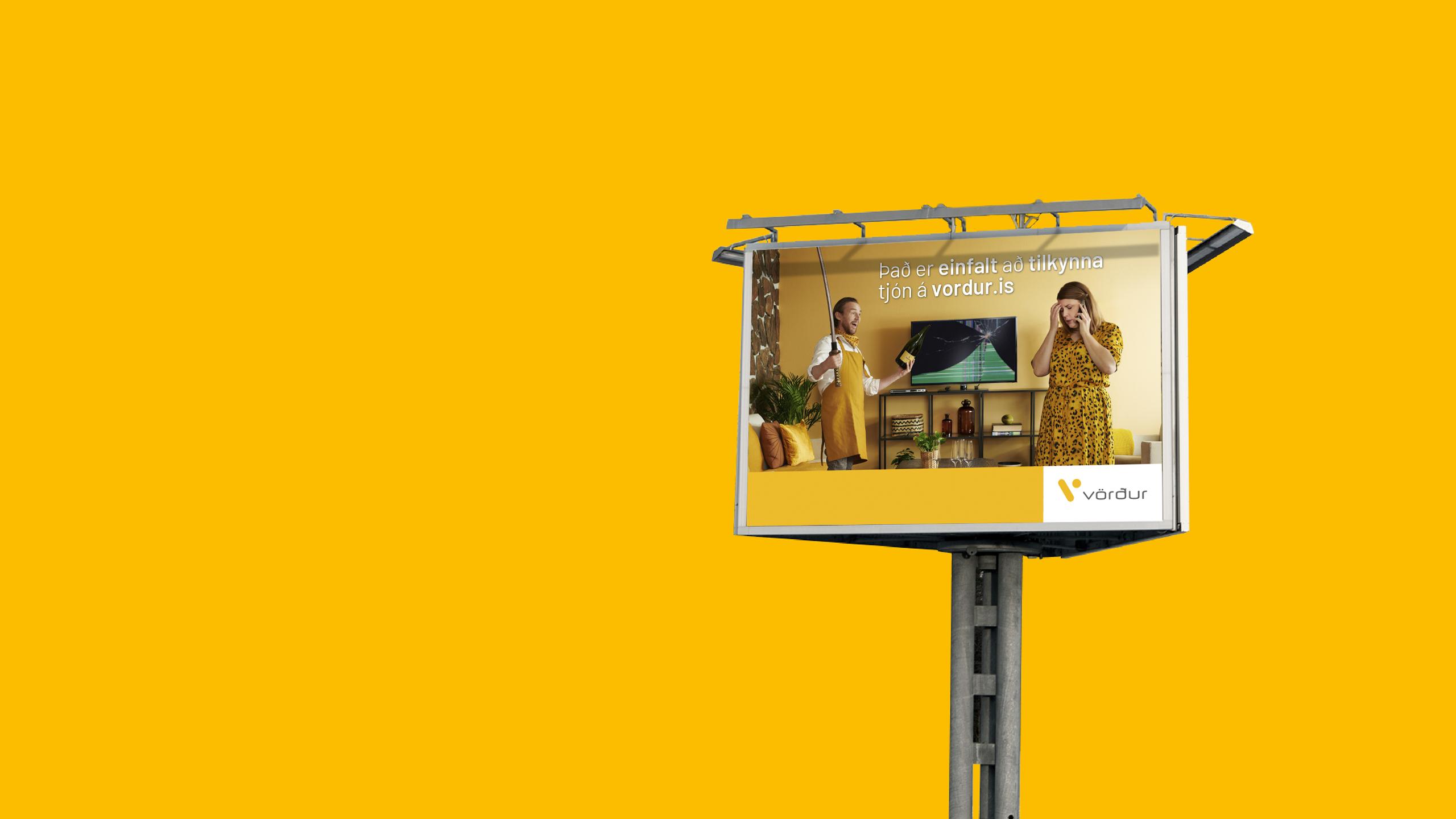 Vörður - tjónstilkynningar billboard